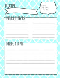 Recipe Book Template Magdalene Project Org