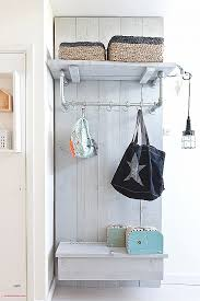 Corner Entry Bench Coat Rack