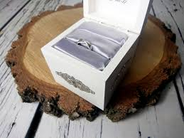 personalized writing white silver shabby chic wood rustic wedding personalized writing white silver shabby chic wood rustic wedding rings box elegant vintage custom writings winter wedding