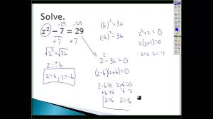 solve quadratic equations by finding square roots notes