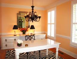 paint for office walls. stunning orange accent wall paint for home office walls