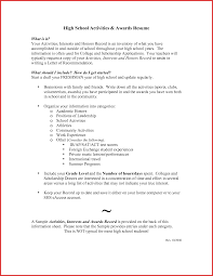New Activities Resume Template For College Personal Leave
