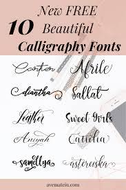 10 New Free Beautiful Calligraphy Fonts Ave Mateiu