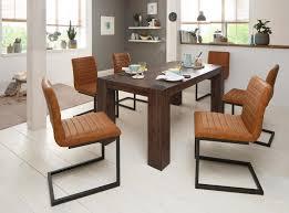 Home Affaire Essgruppenset Bine Bestehend Aus 6 Sabine Stühlen Ohne Armlehne Und Dem Maggie Esstisch Akaziedunkel 7tlg