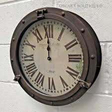 porthole wall clock modern style oscar s boutique ltd for 4