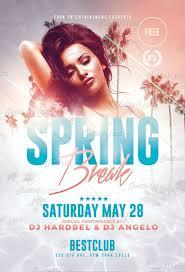 Spring Break Flyer Templates Caj Pinterest Flyer Template Psd