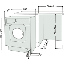 Washer And Dryer Dimensions Front Loading Hotpoint Integrated Washer Dryer Bhwd129 Aocom