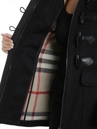 fur trim wool duffle coat