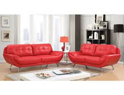 Red leather living room furniture Cheap Handsomniaclub Angeline Modern Red Leather Sofa