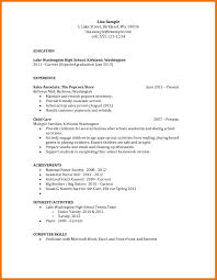 Resume Objective Sample For High School Graduate New Objectives For
