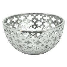 Long Decorative Bowl Silver Decorative Bowl Long Brushed Aluminium Small P bowl ideas 55