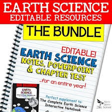Earth Science Curriculum Powerpoints Notes Chapter Tests Bundle