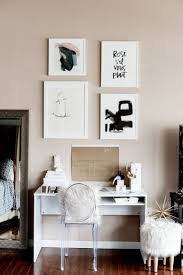 color schemes for home office. This Home Office Makeover From Perfectly Balances Creative Inspiration With Productive Desk Essentials. The Neutral Color Scheme Of Traditional Tan Schemes For E
