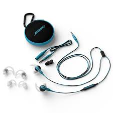 bose earbuds. picture of bose soundsport in-ear headphones - blue earbuds