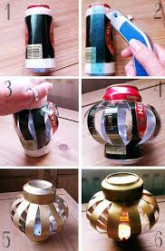 diy moroccan decor -- how to take an old soda pop can and use it