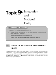 topic integration and national unity