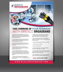 how many flyers should i put in a university serious modern internet flyer design for bresco broadband by