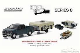 Ford F-150 Pickup Truck and Pop-up Camper Trailer, Blue ...