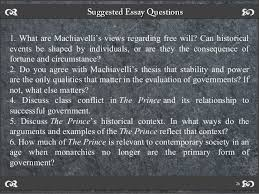 great thinkers series niccol atilde sup machiavelli questionsquestions 25 26 suggested essay questionssuggested