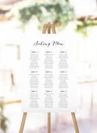 Calligraphy Wedding Seating Chart Elegant Hand Calligraphy Seating Plan Wedding Seating