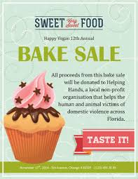 baking sale 12 bake sale flyer templates