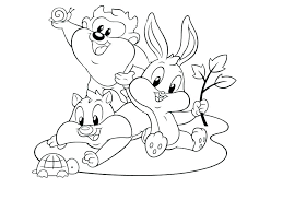 Looney Tunes Coloring Pages Baby Dropnewsme