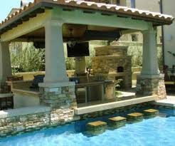 Backyard Designs With Pool And Outdoor Kitchen Best Pools And - Outdoor kitchen designs with pool