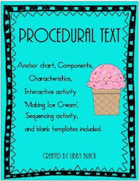 Procedural Text And Sequencing Ice Cream Procedural