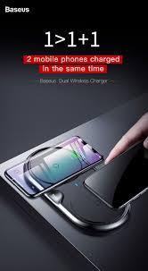 Đế sạc nhanh không dây Baseus Dual Wireless Charger cho iPhone 8/ iPX