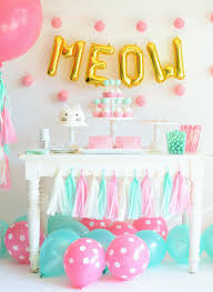 Pastel Colored Kitten Birthday Party Theme Decor - Children's Birthday Party  Inspiration