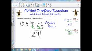 solving one step equations adding subtracting integers you and word problems solving maxresdefault so full size