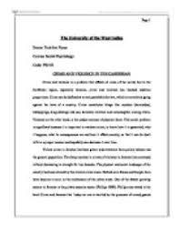 essays violence crime crime and violence essays