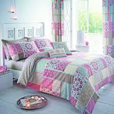 shantar patchwork duvet cover set pink hover to zoom
