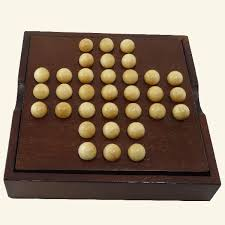 Wooden Peg Solitaire Game Solitaire Wooden Puzzle Wooden board game Mr Puzzle 15