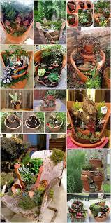 Small Picture DIY Broken Clay Pot Fairy Gardens Instructions Garden ideas