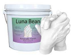 diy luna bean keepsake hands 3d plaster