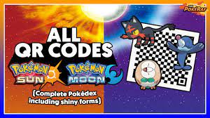 Pokémon Sun and Moon   ALL QR Codes! (Complete Pokédex and ALL Shiny  Forms!) - YouTube