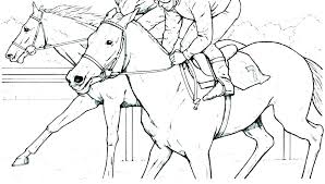Printable Coloring Pages Clydesdale Horses Race Horse Spirit Racing
