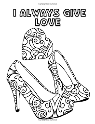 amazon pretty shoes an coloring book with positive affirmations transcendental