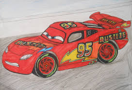 cars 3 custom lightning mcqueen on race track by sgtjack2016