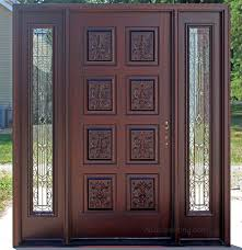 exterior hand carved doors pre finished