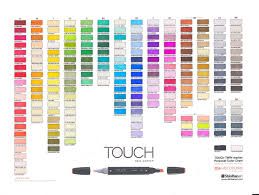 Touch Marker Color Charts Ohuhu Markers Brush Markers
