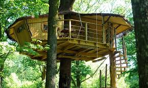 Image Drawing Tree Houses Staircase 4 Tree Houses For 2 3 Or Pers Les Cabanes Du Bois Landry Bois Landry Tree Houses And Estate Staircase
