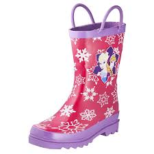 amazon com disney frozen girls anna and elsa pink rain boots amazon com disney frozen girls anna and elsa pink rain boots different sizes rain boots
