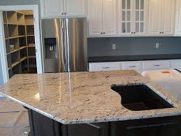 kitchen island close up. a close up of the cut out for sink in this delicatus granite kitchen island s