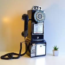 american crosley 1950 s retro wall phone black crosley cr56 bk 1950 s pay phone black wall telephones