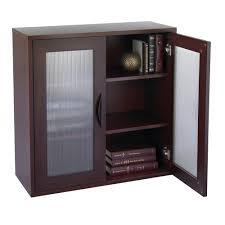 have the tidy look of home with bookcases with glass