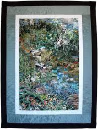 elysian-cascade- Impressionist quilt | QC - Watercolour Quilts ... & elysian-cascade- Impressionist quilt Adamdwight.com