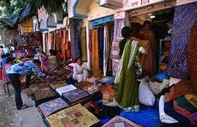 s ing rajasthani fabrics at the janpath market