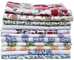 marigold living block printed table and bed linen designs